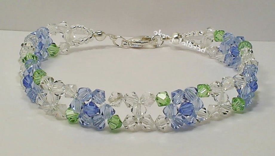 1633f29db8e6 Blue Flower Swarovski Crystal Bracelet · Jun28. This ...