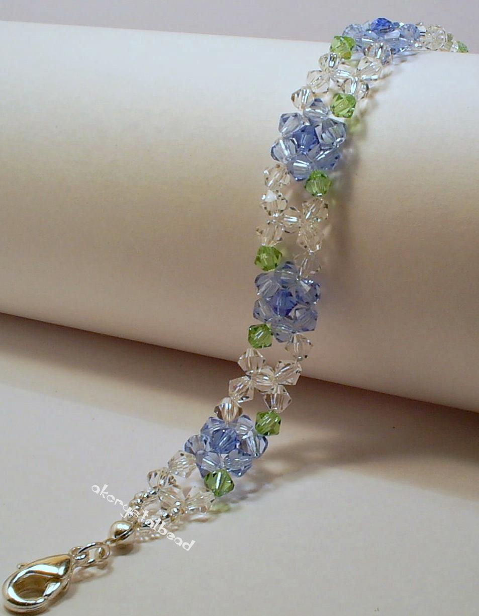 Blue Flower Swarovski Crystal Bracelet. Jun28. Advertisements 556c372a658a